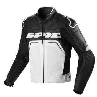 SPIDI EVORIDER LEATHER WIND - NERO-BIANCO