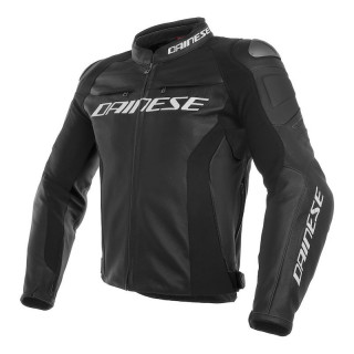 GIACCA DAINESE RACING 3 LEATHER JACKET - BLACK