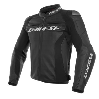 GIACCA DAINESE RACING 3 PERF. LEATHER JACKET - BLACK
