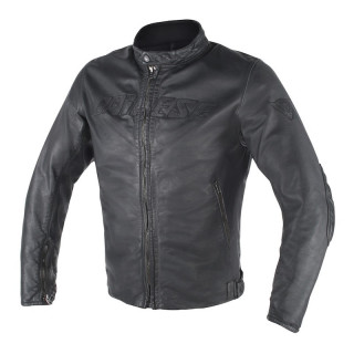 GIACCA DAINESE ARCHIVIO D1 LEATHER - BLACK
