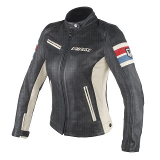 GIACCA DAINESE LOLA D1 LADY PERF. LEATHER JACKET