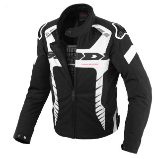 SPIDI WARRIOR TEX JACKET - BLACK WHITE