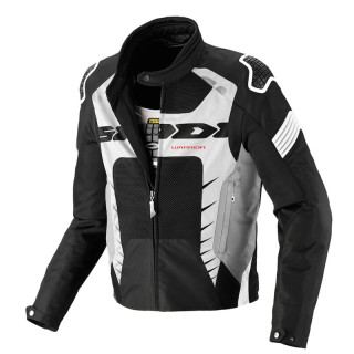 SPIDI WARRIOR NET JACKET - BLACK WHITE