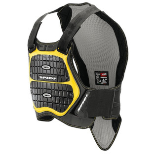 PETTORINA SPIDI DEFENDER BACK&CHEST - NERO GIALLO