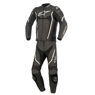 ALPINESTARS MOTEGI V2 2PC LEATHER SUIT - BLACK WHITE RED