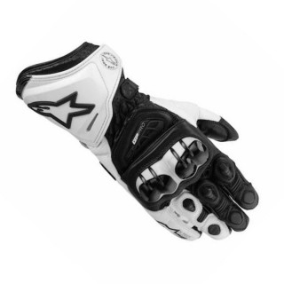 ALPINESTARS GP PRO LEATHER GLOVE – BLACK WHITE