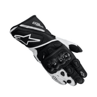 ALPINESTARS GP PLUS NEW LEATHER GLOVE - BLACK WHITE