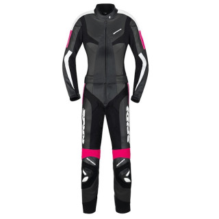 SPIDI POISON TOURING LADY LEATHER SUIT - BLACK FUCHSIA