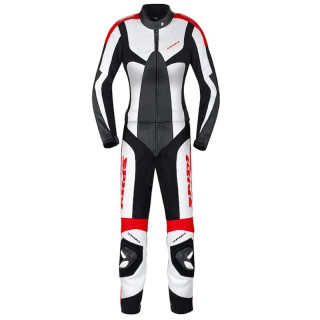SPIDI POISON TOURING LADY LEATHER SUIT - BLACK RED