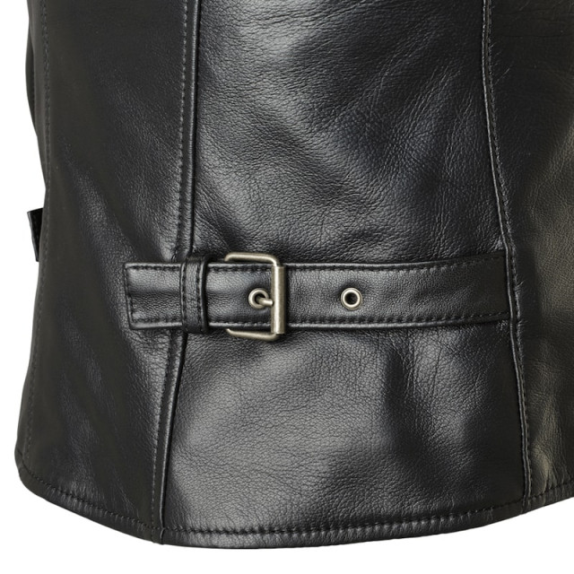 SPIDI ACE LEATHER LADY JACKET BLACK ICE - WAIST ADJUSTMENTS