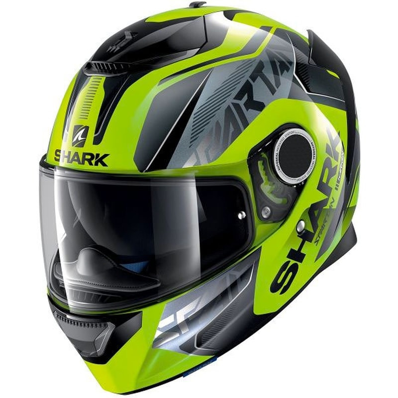 SHARK SPARTAN KARKEN HI-VIS HELMET - YELLOW BLACK