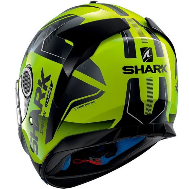 SHARK SPARTAN KARKEN HI-VIS HELMET YELLOW BLACK - BACK