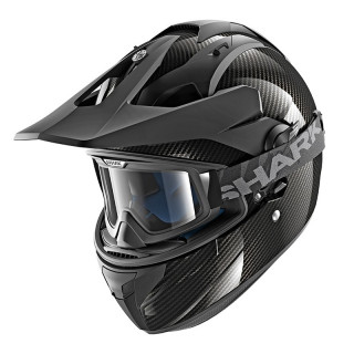 SHARK EXPLORE-R CARBON SKIN HELMET - CARBON SILVER BLACK