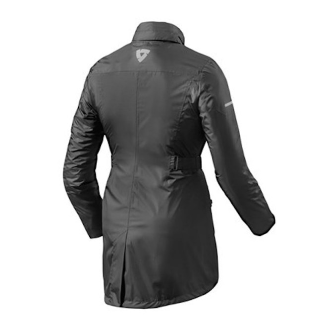 REV'IT TOPAZ H2O LADIES RAIN JACKET BLACK - BACK