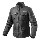 REV'IT QUARTZ H2O RAIN JACKET - BLACK