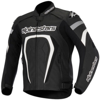 ALPINESTARS MOTEGI PERFORATED LEATHER JACKET - BLACK WHITE