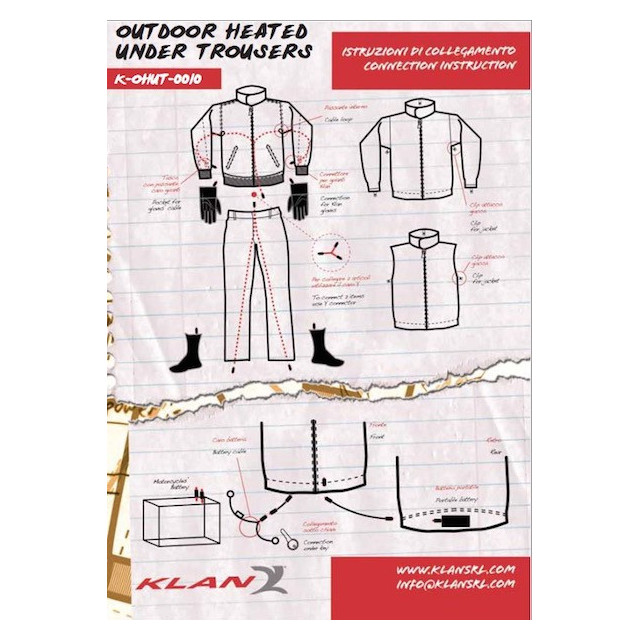 KLAN OUTDOOR HEATED UNDER TROUSERS INFO