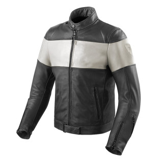 REVIT NOVA VINTAGE JACKET - BLACK WHITE