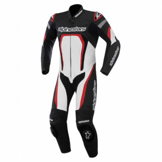 ALPINESTARS MOTEGI LEATHER SUIT - BLACK WHITE RED