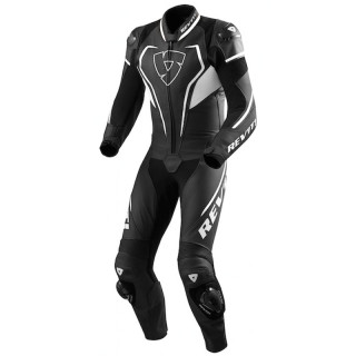 REV'IT VERTEX PRO ONE PIECE LEATHER SUIT - BLACK WHITE