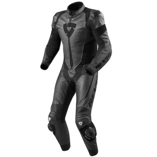 REV'IT PULSAR ONE PIECE LEATHER SUIT - BLACK
