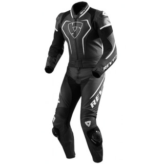 REV'IT COMBI VERTEX PRO LEATHER SUIT - BLACK WHITE
