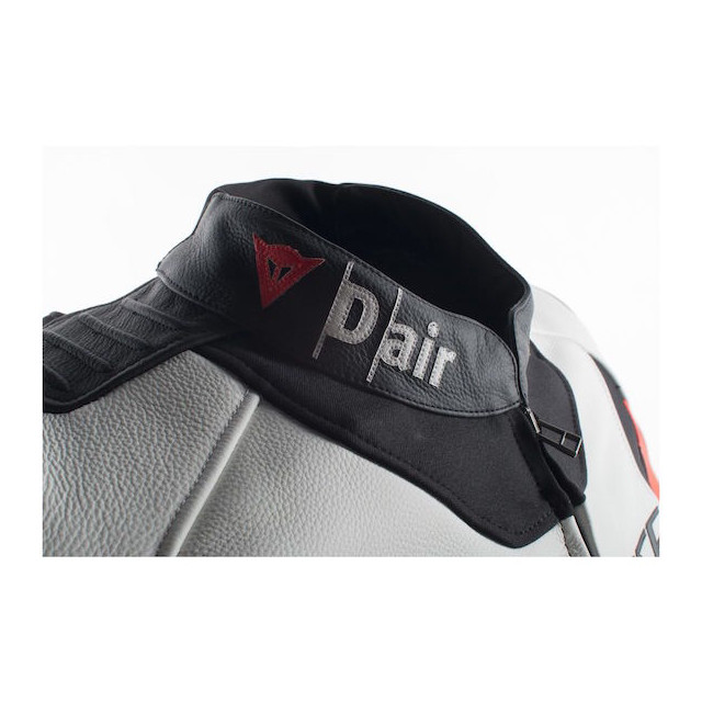 Dainese Misano D-Air Jacket Black-White-Red - Neck Detail