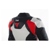 Dainese Misano D-Air Jacket Black-White-Red - Back Detail