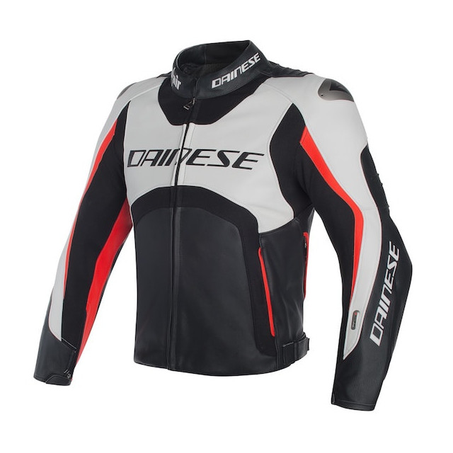 Dainese Misano D-Air Jacket Black-White-Red