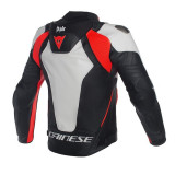 Dainese Misano D-Air Jacket Black-White-Red - BACK