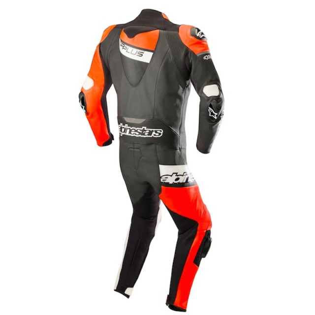 TUTA INTERA ALPINESTARS GP PLUS VENOM LEATHER SUIT BLACK RED FLUO WHITE - RETRO