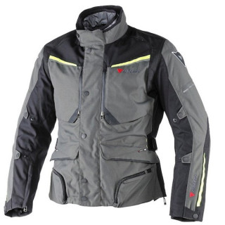 DAINESE SANDSTORM GORE-TEX JACKET - DARK GULL GREY BLACK FLUO YELLOW