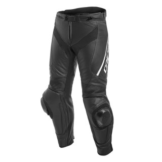 DAINESE DELTA 3 PERFORATED LEATHER PANTS - Black-White