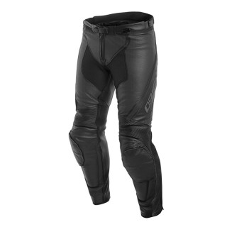 DAINESE ASSEN PERFORATED LEATHER PANTS - Black