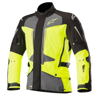 ALPINESTARS YAGUARA DRYSTAR TECH-AIR JACKET - BLACK DARK GRAY YELLOW FLUO