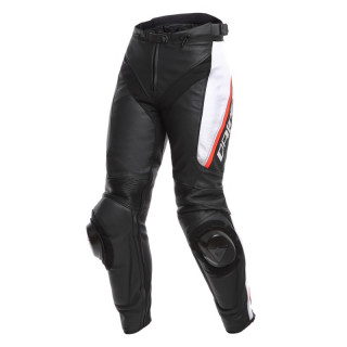 PANTALONI DAINESE DELTA 3 LADY LEATHER PANTS - Black-White-Red