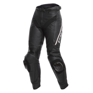 DAINESE DELTA 3 LADY LEATHER PANTS - Black-White