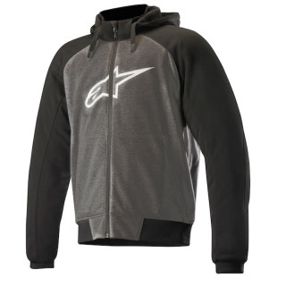 FELPA ALPINESTARS CHROME SPORT HOODIE - ANTHRACITE BLACK WHITE