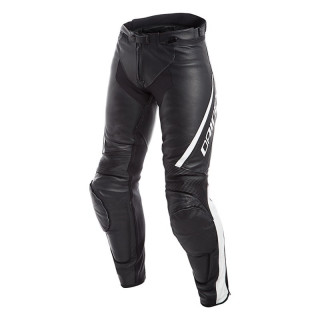 PANTALONI DAINESE ASSEN LADY LEATHER PANTS - Black-White