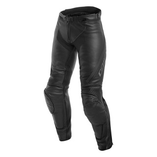 DAINESE ASSEN LADY LEATHER PANTS - Black-Anthracite