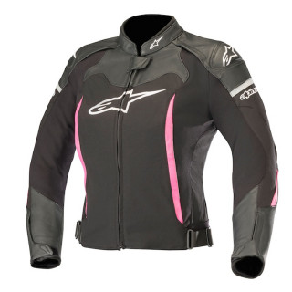 ALPINESTARS STELLA SP X JACKET - BLACK WHITE FUCHSIA