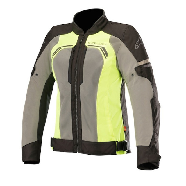 ALPINESTARS STELLA DURANGO AIR JACKET - BLACK DARK GRAY YELLOW FLUO