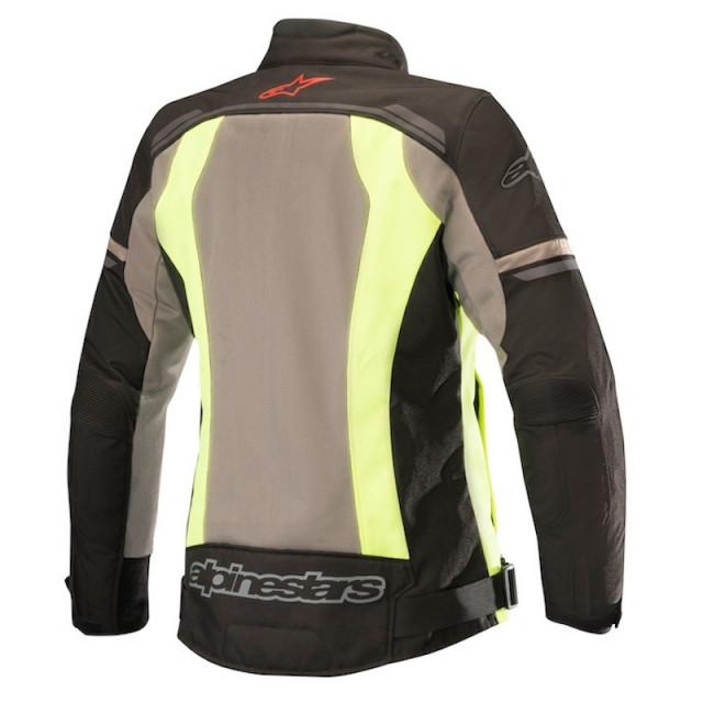 ALPINESTARS STELLA DURANGO AIR JACKET BLACK DARK GRAY YELLOW FLUO - BACK