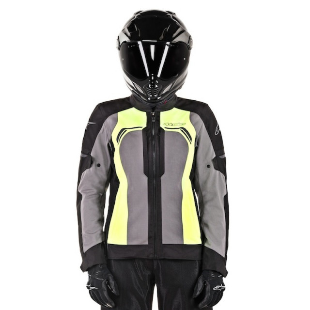ALPINESTARS STELLA DURANGO AIR JACKET - BLACK DARK GRAY YELLOW FLUO - WOMAN