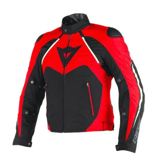 DAINESE HAWKER D-DRY JACKET - BLACK RED WHITE
