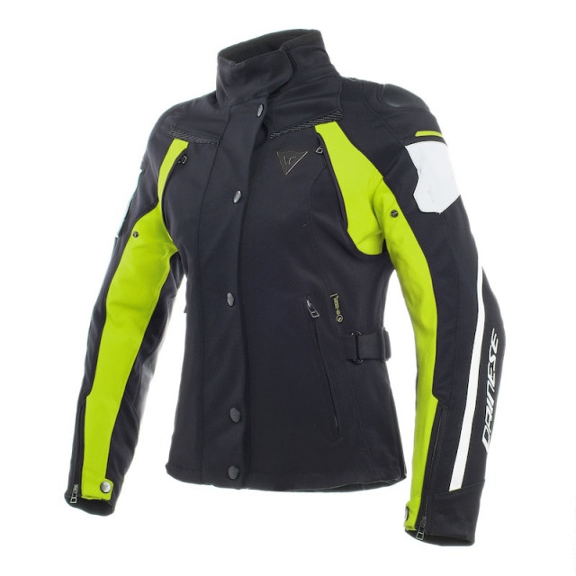 GIACCA DAINESE RAIN MASTER D-DRY LADY - Black-Glacier Gray-Fluo Yellow