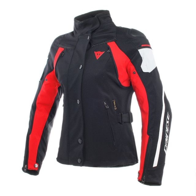GIACCA DAINESE RAIN MASTER D-DRY LADY - Black-Glacier Gray-Red