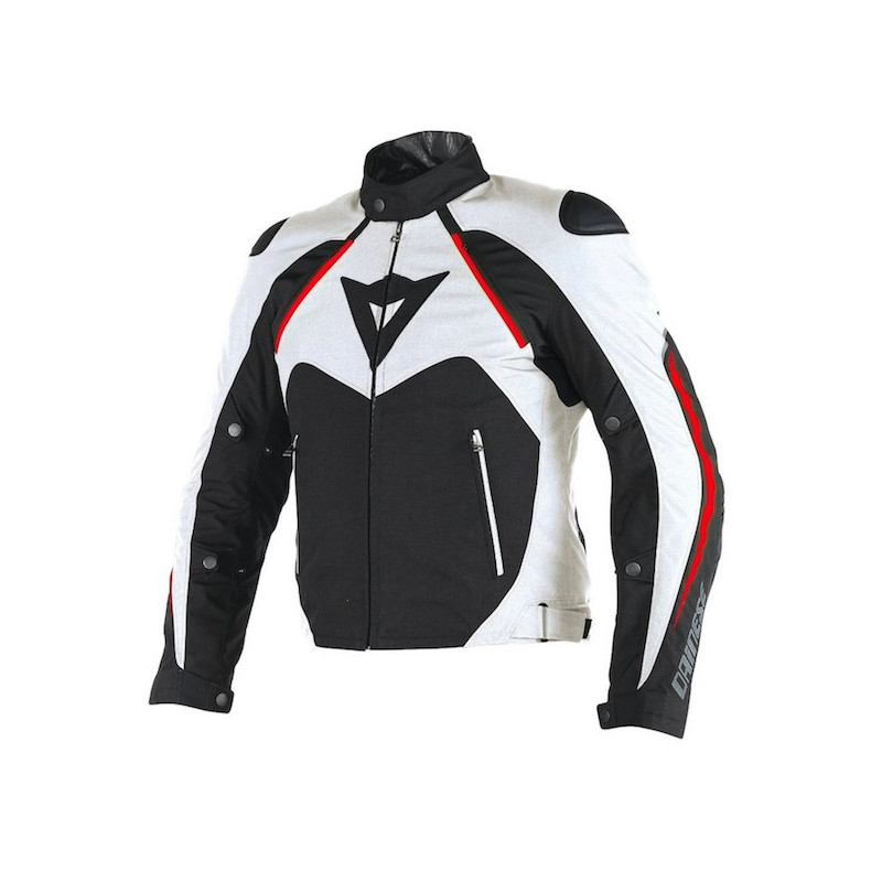 DAINESE HAWKER D-DRY JACKET - BLACK WHITE RED
