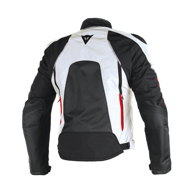 DAINESE HAWKER D-DRY JACKET BLACK WHITE RED - BACK