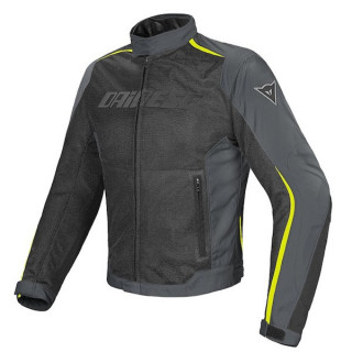 DAINESE HYDRA FLUX D-DRY JACKET - BLACK DARK GULL GREY FLUO YELLOW